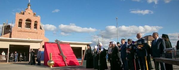 Патриарх Кирилл встретил праздник Крестовоздвижения в Астрахани